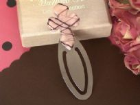 Murano Art Deco Pink And Brown Cross Book Marker